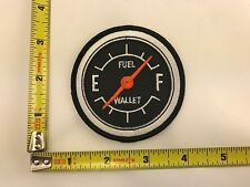 Fuel Gauge Patch Wallet Gas Biker motorcycle rider iron-on sew-on new