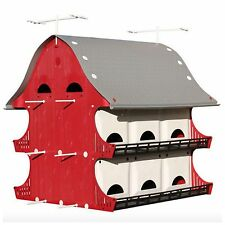 Purple Martin Bird House Birdhouse Perch Kit Outdoor Garden Landscape Decor New