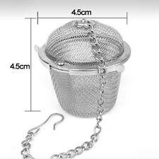 Brand New Tea Stainless Strainer Locking Tea Spice Mesh Herbal Ball Diam 4.5cm