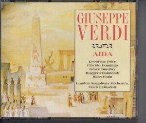 VERDI Aida 2-CD BOX PLACIDO DOMINGO ERICH LEINSDORF BRILLIANT CLASSICS