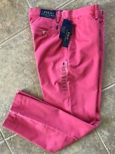 Polo Ralph Lauren Flat Front Chino Pants 34 x 32 Nantucket Red Classic Fit NWT