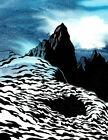 KEN PRICE - Mountains (60x46), CANVAS, POSTER FREE P&P