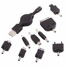 USB Ladekabel Aufrollkabel + div. Stromadapter #a315