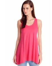 NWT Eileen Fisher Scoop Neck Racerback Electric Pink Tank Shirt Sz M $148