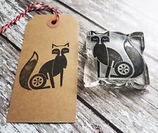 FOX RUBBER STAMP CHRISTMAS, GIFT WRAPPING, CARDS TAGS