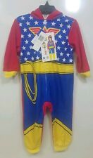 DC Comics Little Girls Wonder Woman Toddler Cosplay Union Suit Blue 2T NEW