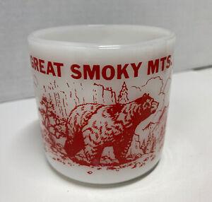 Vintage Federal Glass Great Smoky Mountains TN Gatlinburg Souvenir Coffee Mug