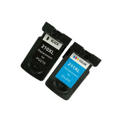 Ink Cartridge for Canon PG-210XL/CL-211XL use in PIXMA Printer (1 Black 1 Color)