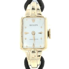 Rolex Precision Ladies Vintage Wristwatch 9k Gold Mechanical 2Yr Wty 1930s-1940s