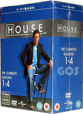 House MD DVD Boxset Complete Series 1 2 3 4 One Two Three Four Season box Damage
