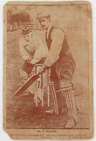 .c1900 - 1910. SEPIA STYLE CRICKET THEME POSTCARD. KENDAL UK.
