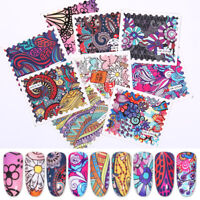 Stamp Pattern Nail Water Decals Transfer Stickers Nail Art Salon Decoration Tips