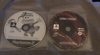 DINO CRISIS PS1 & DINOSAUR ADVENTURE PS2 - SONY PLAYSTATION GAME DISCS ONLY