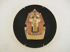 RAMSES II BÜSTE WAND TELLER BILD PORZELLAN Nr. 16151 A 22 Kt. GOLD ÄGYPTEN 1993