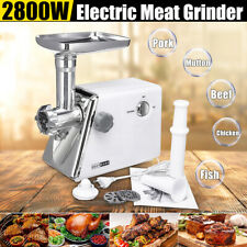 2800W Stainless Steel Electric Meat Grinder Food Mincer Sausage Maker Kitchen