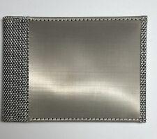Stewart/Stand RFID Block Slim Stainless Steel Secure Bifold Wallet Silver No Tag