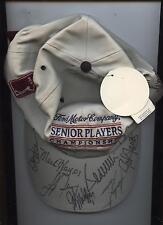 Senior Players Championship Autographed Cap 10 Signatures PSA/DNA LOA