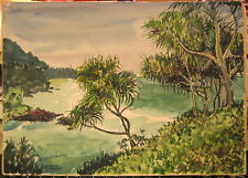 F. Alvin Zimmereli  water color Hawaii Pacific paradise
