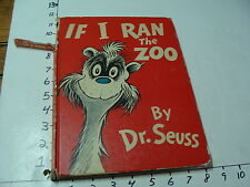 Childrens book--IF I RAN the ZOO by Dr. Seuss,