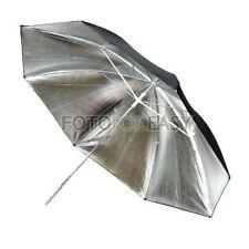 "33"" Studio Flash Light Reflector Black Silver Umbrella"