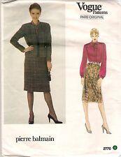 Vogue Pattern 2770 Pierre Balmain, Vintage Jacket, Skirt, Blouse, Size 10, Uncut