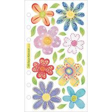 EK Success Sticko  Stickers - VELLUM PASTEL FLOWERS 24 pieces per pack