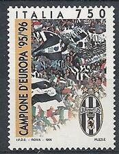 1996 ITALIA JUVENTUS CAMPIONE D'EUROPA CALCIO MNH **