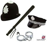 POLICEMAN FANCY DRESS COSTUME Plastic ACCESSORY SET Officer Kids Boys Man Kit UK