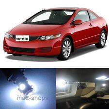 10Pcs Premium  White Interior LED Light Package Fit Honda Civic 2006-2012 MT