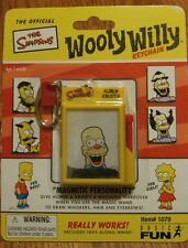 The Simpsons KRUSTY the CLOWN Wooly Willy KEYCHAIN Toy by Basic Fun NEW Retired