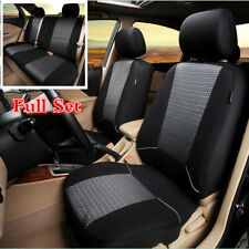 Universal Full Set Jacquard+Polyester Fabric Seat Cover Cushions For 5-Seats Car