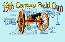 BUILD A MODEL 6Lb 19th Century Field Gun Full Size Printed PLANS & Build Article