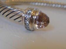 $995 DAVID YURMAN STERLING MORGANITE DIAMOND BRACELET 5mm.