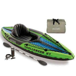 Intex Inflatable Kayak Challenger K1 274x76x33cm Water Sport Canoe Rowing Boat