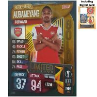 MATCH ATTAX 2019/20 LIMITED EDITION PIERRE EMERICK AUBAMEYANG GOLD LE8 FREE CODE