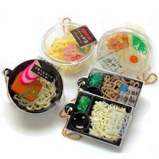 Phone Lanyard Strap Japanese Squishy Charm Keychain Noodle Bowl Food Miniature