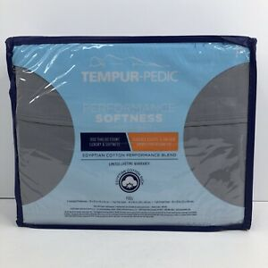 Tempur-Pedic Full Sheet Set Egyptian Cotton Blend 800 TC 4 Pcs - Gray