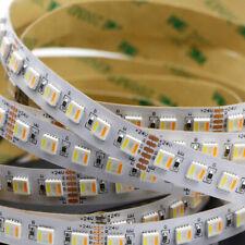 5 м Rgb CCT 300 светодиодная светящаяся полоса 5in1 двойной цвет 5050 затемняемый лента лампа DC12V 24 В