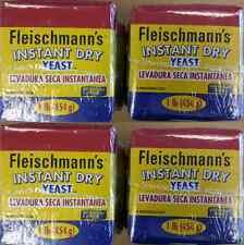 FLEISCHMANN'S INSTANT DRY YEAST 4  x 1 lb ( 4 lbs total)
