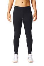 adidas Essentials Linear Womens Black Running Gym Long Tights Bottoms Pants L