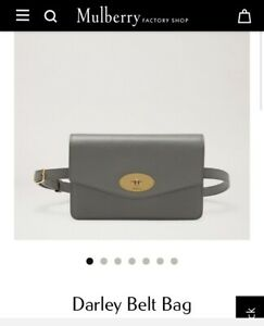 Mulberry Darley belt bag in Charcoal