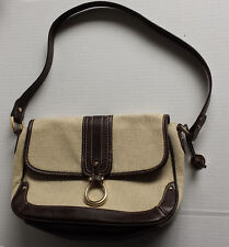 "Etienne Aigner women bag linen light gray hobo style (12""x7""x4"")"