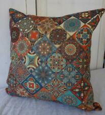 Bohemian Abstract Retro '60's Funk' Cotton Blend Lounge Cushion Cover 45