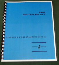 HP 8566B Operating & Programming Manual: Comb Bound & Protective Covers