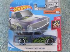 Hot Wheels 2018 #011/365 CUSTOM 1969 CHEVY PICKUP violet HW Flames