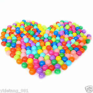100pcs Quality Secure Baby Kid Pit Toy Swim Fun Colorful Soft Plastic Ball A3