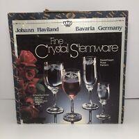Johann Haviland Fine Crystal Stemware 4 Piece Set Sweetheart Rose Pattern