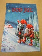 Swedish Norwegian Danish Christmas Gnome Tomte Decorative Garden Flag GFL362
