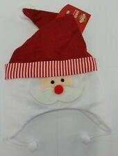 Christmas Hat Happy Santa with a red nose and ear prtectors - Felt