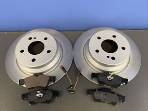 FOR MERCEDES E220 CDI W212 REAR DISC & PADS AND WEARLEADS